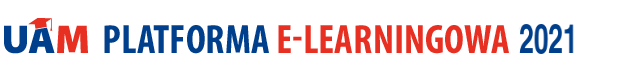 Logo Platformy E-learningowej UAM 2021